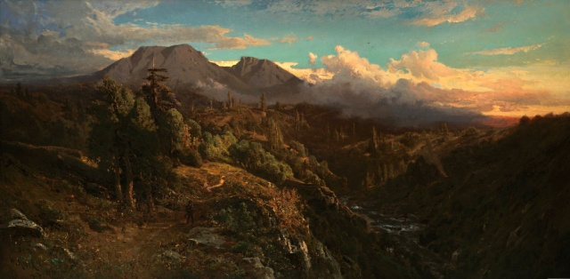 Sunset_Glow_on_Mt_Tamalpais_by_William_Keith,_1896